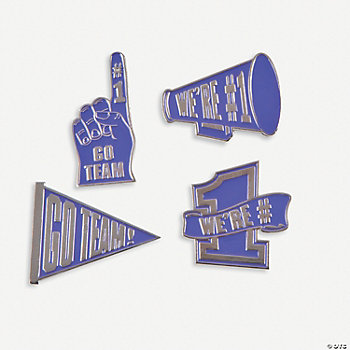 """Go Team!"" Pins - Purple"