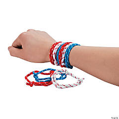 Adjustable Patriotic Friendship Rope Bracelets