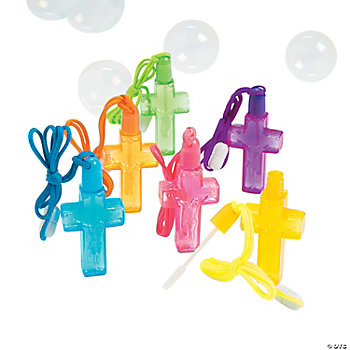 Cross Bubble Bottle Necklaces