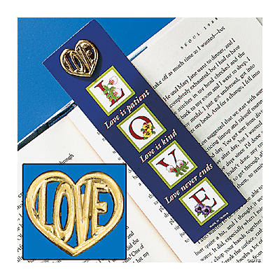 """Love Is Patient"" Pin & Bookmark Sets"