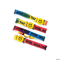 "Nylon ""Smile, Jesus Loves You!"" Friendship Bracelets"