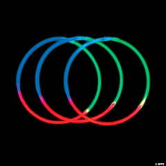 Green, Blue & Pink Tri-Color Glow Necklaces