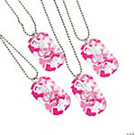 Pink Ribbon Camouflage Dog Tag Necklaces
