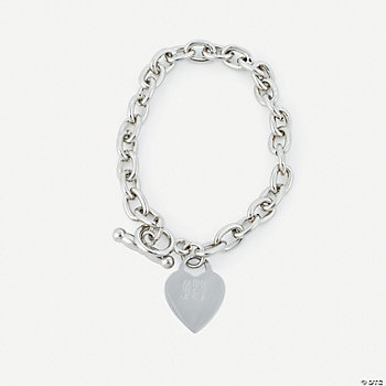 Personalized Heart Toggle Bracelet