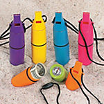 Plastic Whistle Beach Safe Containers With Compass