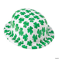 Shamrock Print Derby Hats