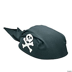 Adult's Black Pirate Scarf Hat