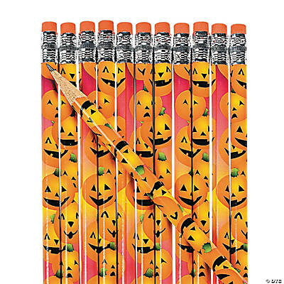 Halloween Pumpkin Pencils