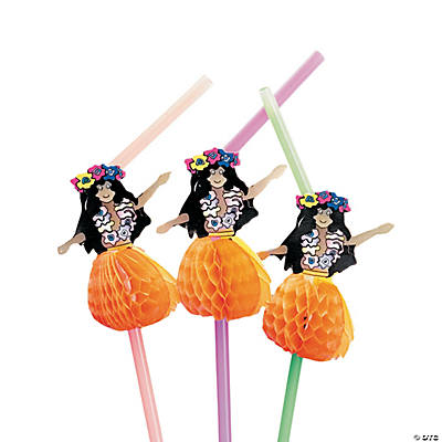 Hula Girl Straws