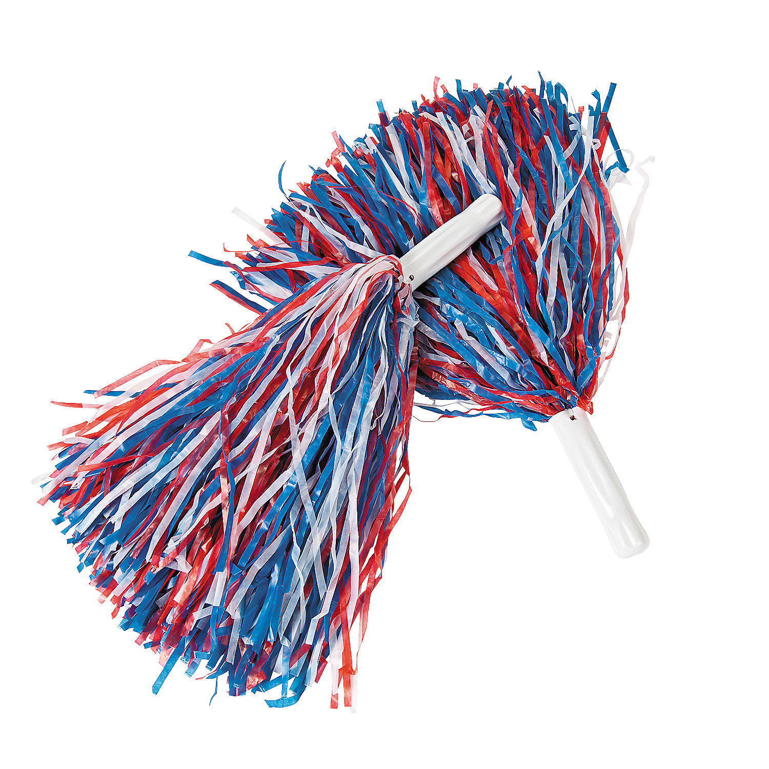 Patriotic pom poms oriental trading for Cheerleading arts and crafts