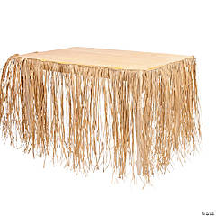 Tropical Raffia Table Skirt