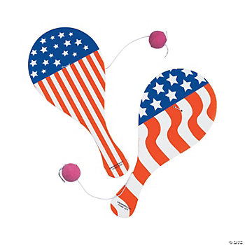 Stars & Stripes Paddleball Games