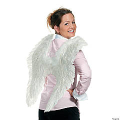 Feather and Marabou Angel Wings