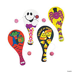 Halloween Smile Face Paddleball Games