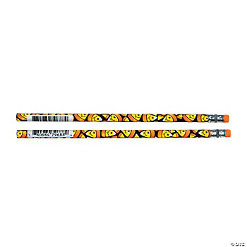 Smile Face Candy Corn Pencils