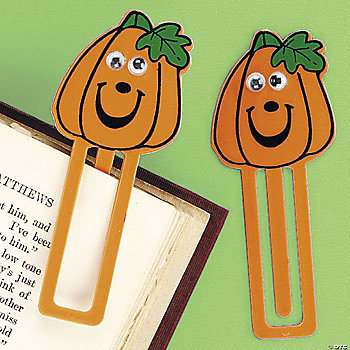 Jack-O'-Lantern Bookmarks With Wiggle Eyes