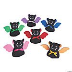 Plush Bean Bag Stuffed Bats with Bright Wings