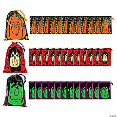 Large Halloween Drawstring Goody Bags