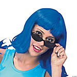 Adult's Neon Blue Pageboy Wig