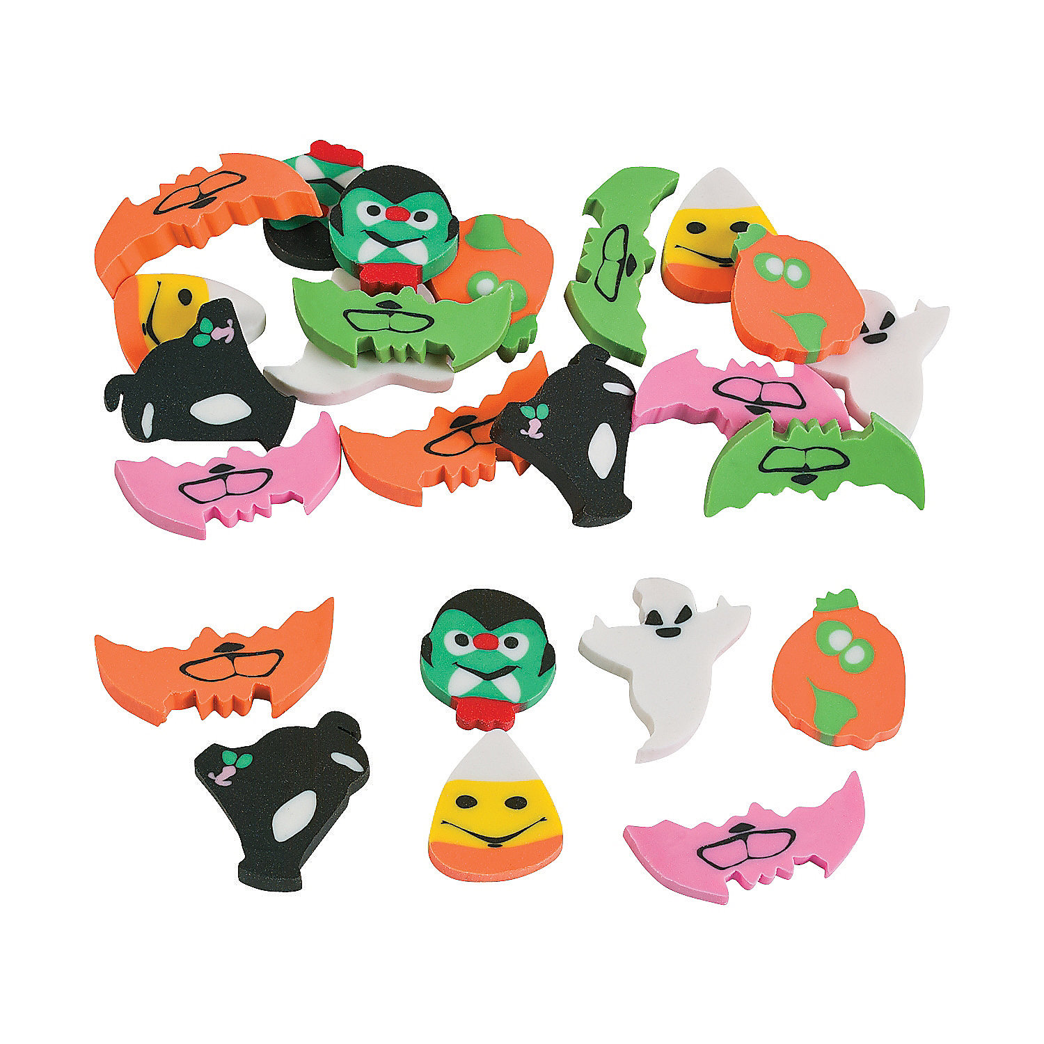 Small Oriental Trading Company Toys : Halloween mini eraser assortment oriental trading