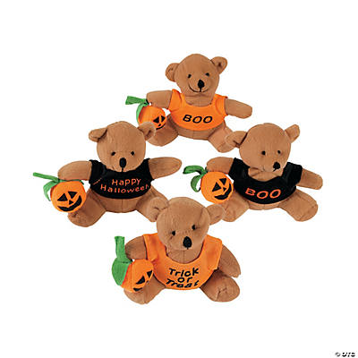 Plush Bears with A Halloween T-Shirt