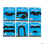 Synthetic Self-Adhesive Mustache Assortment