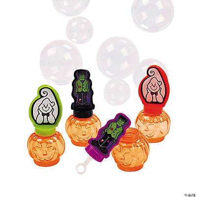 Halloween Character Pumpkin-Shaped Bubble Bottles