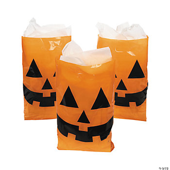 Jack-O'-Lantern Trick-Or-Treat Bags