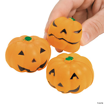 Mini Relaxable Squeeze Jack-O'-Lanterns