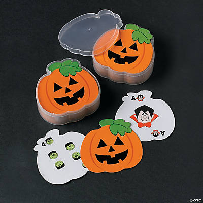 Jack-O'-Lantern-Shaped Playing Cards