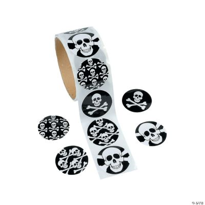 Skull Roll of Stickers