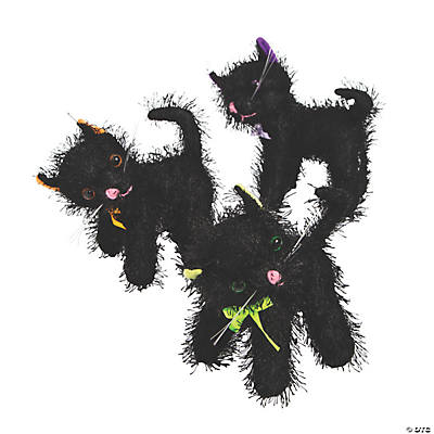 Plush Halloween Black Cats