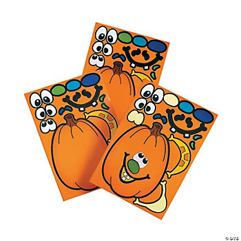 Make-A-Jack-O'-Lantern Stickers
