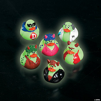 Mini Glow-In-The-Dark Costumed Rubber Duckies