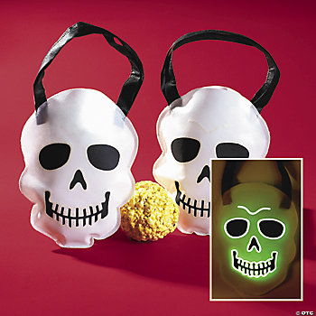 Glow-In-The-Dark Skull Totes