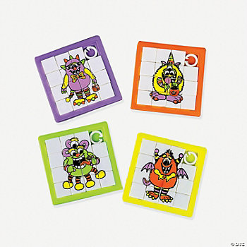 Big Eye Monster Slide Puzzles