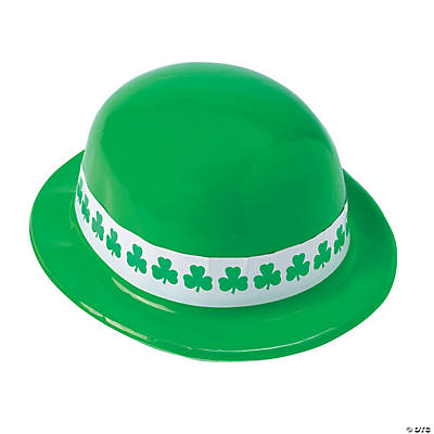 Neon Green Shamrock Band Derby Hats