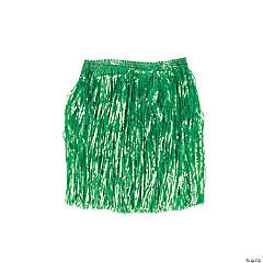 Kiddie Artificial Green Grass Hula Skirts