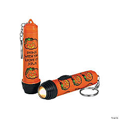 Religious Pumpkin Flashlight Key Chains