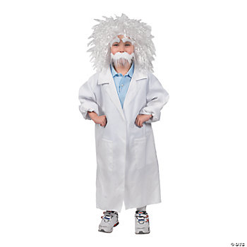 Child's Lab Coat And Wig Kit