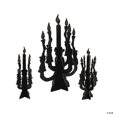 Candelabra Centerpieces with Glow-in-the-Dark Flames