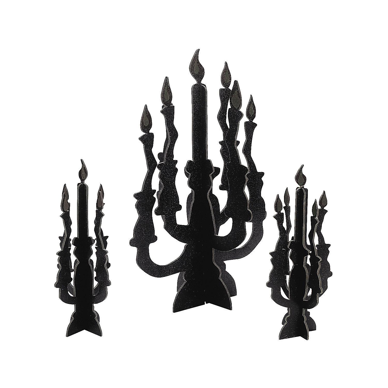 glow in the dark flames in 25 5699 candelabra centerpieces with glowGlow In The Dark Centerpieces