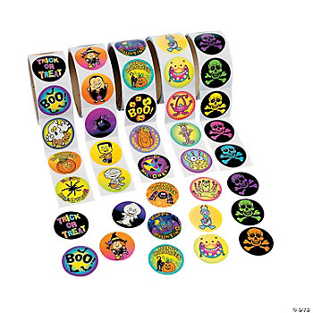 500 Pc. Halloween Roll Sticker Assortment