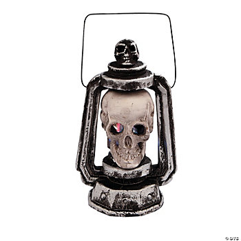 Light-Up LED Skull Lantern