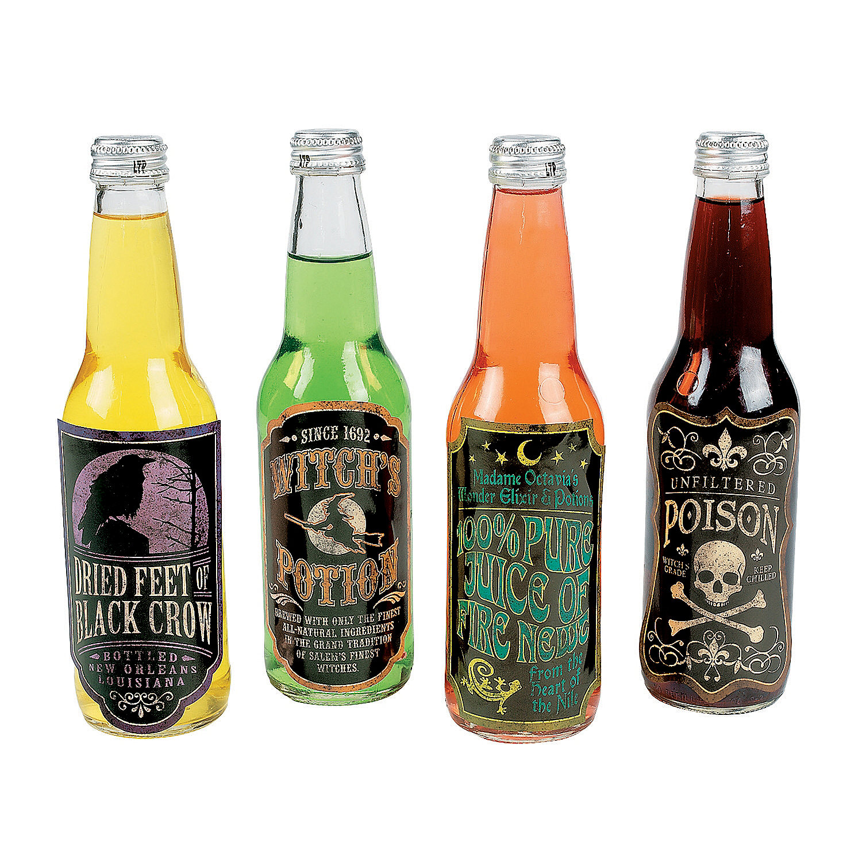 Halloween drink bottle labels oriental trading for Decor drink bottle