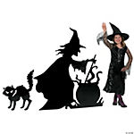 Witch With Cauldron & Cat Stand-Up