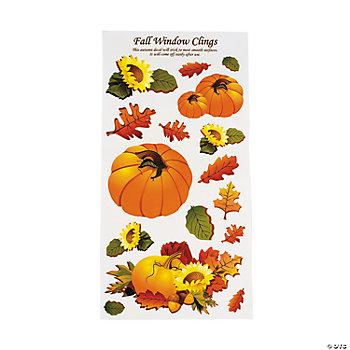 Fall Leaves Window Clings