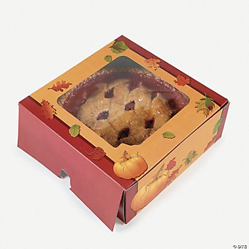 Fall Leaves Pattern Pie Boxes