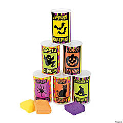9 Pc. Halloween Can Bean Bag Toss Game