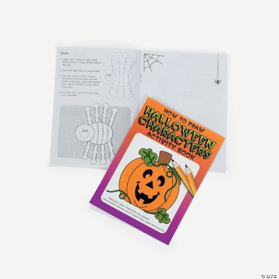 Halloween Activity Books - Learn To Draw